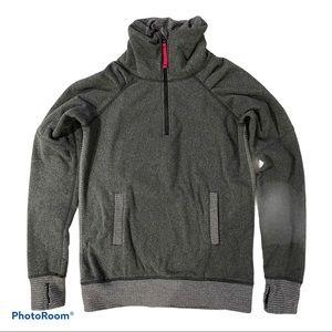 Kids Ivivva Grey Fleece 1/4 Zip Pullover Size 14